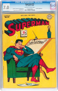 Golden Age (1938-1955):Superhero, Superman #41 (DC, 1946) CGC FN/VF 7.0 Off-white to white pages....
