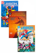 Modern Age (1980-Present):Superhero, Legion of Super-Heroes Short Box Group (DC, 1980s-90s) Condition:Average NM....