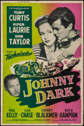 """Movie Posters:Action, Johnny Dark & Other Lot (Universal International, 1954). SilkScreen Poster & Poster (40"""" X 60""""). Action.. ... (Total: 2Items)"""