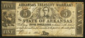 Obsoletes By State:Arkansas, (Little Rock), AR- The State of Arkansas $5 Apr. 4, 1862 Cr. 52. ...