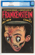 Golden Age (1938-1955):Humor, Frankenstein Comics #1 (Prize, 1945) CGC VF+ 8.5 Cream to off-white pages....