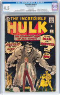 Silver Age (1956-1969):Superhero, The Incredible Hulk #1 (Marvel, 1962) CGC VG+ 4.5 Off-whitepages....