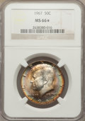 Kennedy Half Dollars: , 1967 50C MS66 ★ NGC. NGC Census: (112/6). PCGS Population (109/10).Mintage: 295,046,976. Num...
