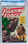 Golden Age (1938-1955):War, Our Fighting Forces #1 (DC, 1954) CGC FN/VF 7.0 Off-white to whitepages....