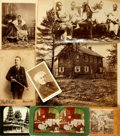 Books:Photography, [Nineteenth Century Photography]. Eight Piece Collection of Photographs, Cabinet Cards, Cartes de Visites and Stereocards. V...