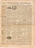 Miscellaneous:Newspaper, [Jim Bowie]. Newspaper: United States Telegraph....