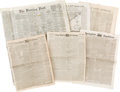 Miscellaneous:Newspaper, [Civil War]. Six Newspapers,... (Total: 6 Items)