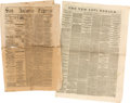 Miscellaneous:Newspaper, [Texas Reconstruction]. Two Newspapers: The San AntonioExpress and The New York Herald.... (Total: 2 Items)