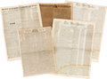 Miscellaneous:Newspaper, [David Crockett] and [Texas Independence]. Five Newspapers,...(Total: 5 Items)