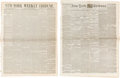 Miscellaneous:Newspaper, [Texas Annexation] and [Civil War]. Two Newspapers.... (Total: 2 )
