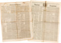 Miscellaneous:Newspaper, [Jack Hays and the Texas Rangers]. Two Newspapers:... (Total: 2 )