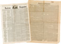 Miscellaneous:Newspaper, [Texas Annexation]. Two Newspapers:... (Total: 2 )