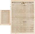 Miscellaneous:Newspaper, [Battle of San Jacinto]. Two Newspapers.... (Total: 2 Items)