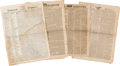 Miscellaneous:Newspaper, [Early Texas]. Four Newspapers,... (Total: 4 Items)