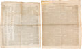 Miscellaneous:Newspaper, [Early Texas]. Two Newspapers:... (Total: 2 Items)
