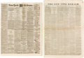 Miscellaneous:Newspaper, [Sam Houston]. Two Newspapers:... (Total: 2 )