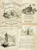 Books:Music & Sheet Music, [Sheet Music]. Five Sets of Nineteenth Century Sheet Music. Various publishers and dates. ...