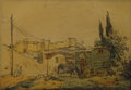 Texas:Early Texas Art - Impressionists, JOSE ARPA (1858-1952). Untitled. Color etching on paper. 6-1/2 x9-1/2 inches (16.5 x 24.1 cm). Signed lower left. ...