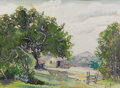 Texas:Early Texas Art - Regionalists, BOWIE MOORE (dec.). Untitled Landscape. Gouache on paper. 16 x 22inches (40.6 x 55.9 cm). Signed lower right. ...