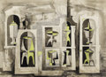 Texas:Early Texas Art - Modernists, BROR UTTER (1913-1993). Untitled Apothecary Jars. Watercolor andink on paper. 22 x 30 inches (55.9 x 76.2 cm). Signed lower...