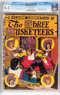 Golden Age (1938-1955):Classics Illustrated, Classic Comics #1 The Three Musketeers - Original Edition(Gilberton, 1941) CGC VG+ 4.5 Off-white pages....