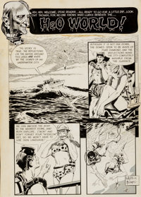 "Al Williamson and Roy Krenkel Creepy #1 ""H2O World!"" Complete 6 Page Story Original Art (EC, 1964).... (Total:..."