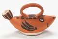 Post-War & Contemporary:Contemporary, PABLO PICASSO (Spanish, 1881-1973). Fish Subject, 1952.Terracotta with decoration. 5-1/2 x 8-1/2 x 3-1/2 inches (14.0 x...