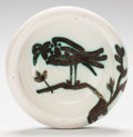 Post-War & Contemporary:Contemporary, PABLO PICASSO (Spanish, 1881-1973). Bird Under the Sun,1952. Partially glazed ceramic. 1-3/4 x 6-3/8 inches (4.4 x 16.2...