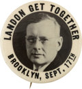 Political:Pinback Buttons (1896-present), Alfred M. Landon: Perhaps the Rarest Single-Portrait Button Varietyfor this Candidate....