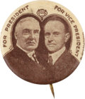 Political:Pinback Buttons (1896-present), Harding & Coolidge: One of the Nicest 7/8-inch Jugate Designs....