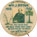 """Political:Pinback Buttons (1896-present), William Jennings Bryan: The Rare Large 1 ½-inch Size of the """"Tree of Life"""" Design...."""