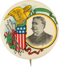 Political:Pinback Buttons (1896-present), William Howard Taft: A Great Multi-Color 1 ¾-inch 1908 Design....