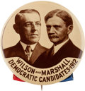 Political:Pinback Buttons (1896-present), Wilson & Marshall: A Rare 2 1/8-inch 1912-dated JugatePinback....