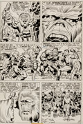 """Original Comic Art:Panel Pages, Jack Kirby and D. Bruce Berry Kamandi, The Last Boy On Earth#29 """"Mighty One!"""" Page 7 Original Art (DC, 1975)...."""