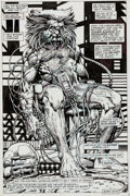 Original Comic Art:Splash Pages, Barry Smith Marvel Comics Presents #78 Splash Page 4Original Art (Marvel, 1991)....