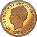 Proof Four Dollar Gold Pieces, 1879 $4 Coiled Hair, Judd-1638, Pollock-1838, R.6, PR65 PCGS. CAC....