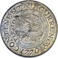 Colonials, 1776 $1 Continental Dollar, CURRENCY, Pewter -- Double Struck -- MS64 NGC. Newman 2-C, W-8455, R.3....