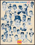 Baseball Collectibles:Others, 1978 New York Yankees Team Signed Burger King Promotional Poster -World Championship Season!...