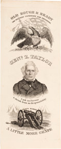"Political:Ribbons & Badges, Zachary Taylor, ""The People's Candidate for President"": A Paper Proof or Wearing Badge in What is Unquestionably the Most Desi..."