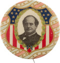 Political:Pinback Buttons (1896-present), William Jennings Bryan: A Striking Large 1908 1 ¾-inch Button with Rich Color....