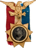 Political:Ferrotypes / Photo Badges (pre-1896), Winfield Scott Hancock: A Rare and Very Choice 1880 CampaignFerrotype....