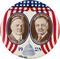 Political:Pinback Buttons (1896-present), Hoover & Curtis: A Dramatic 4-inch Litho in Virtually MintCondition....