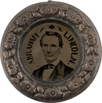 """Abraham Lincoln: A Superb Example of the Best Variety of Largest-Size 1860 """"Donut"""" Ferrotype"""
