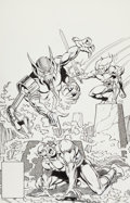 Original Comic Art:Covers, Jose Delbo and Brett Breeding Thundercats #10 Cover OriginalArt (Marvel, 1987)....