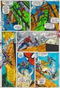 Original Comic Art:Miscellaneous, Amazing Spider-Man #121 Page 17 Dave Hunt Color GuideProduction Art (Marvel, 1973)....