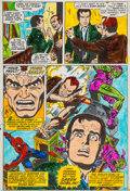 Original Comic Art:Miscellaneous, Amazing Spider-Man #121 Page 4 Dave Hunt Color GuideProduction Art (Marvel, 1973)....