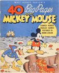 Platinum Age (1897-1937):Miscellaneous, 40 Big Pages of Mickey Mouse #945 (Whitman, 1936) Condition:FN/VF....