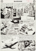 Original Comic Art:Panel Pages, Dick Dillin and Chuck Cuidera Blackhawk #173 Page 3 OriginalArt (Quality, 1962)....