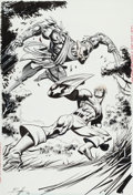 Original Comic Art:Splash Pages, Norm Breyfogle Black Panther V2#30 Splash Page 1 OriginalArt (Marvel, 2001)....