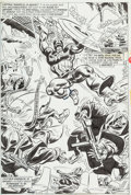 Original Comic Art:Splash Pages, Frank Robbins and Frank Chiaramonte Captain America #187Page 14 Splash Page Original Art (Marvel, 1975)....